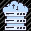 cloud, database, server