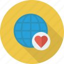 bookmark, favorite, global, heart, international, like, network icon