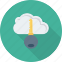 cloud, internet, key, keyword, lock, network icon