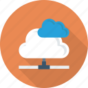 clouds, communication, connection, internet, network, share icon