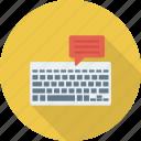 computer, electronic, input, interface, keyboard, typewriter, virtual icon