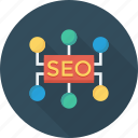 connection, hierarchy, network, seo icon