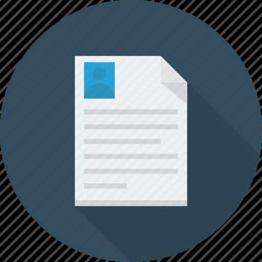 cv  document  resume  sending icon