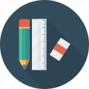 design, pencil, rule, streamline icon