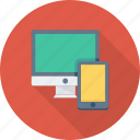 design, mobile, monitor, responsive, web icon