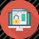display, lock, monitor, screen, webpage, website