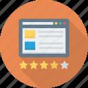 flowchart, rating, sitemap, star, web icon