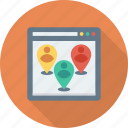 location, map, marker, people, user, web, website icon