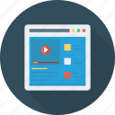 marketing, optimization, seo, video, webpage, youtube icon