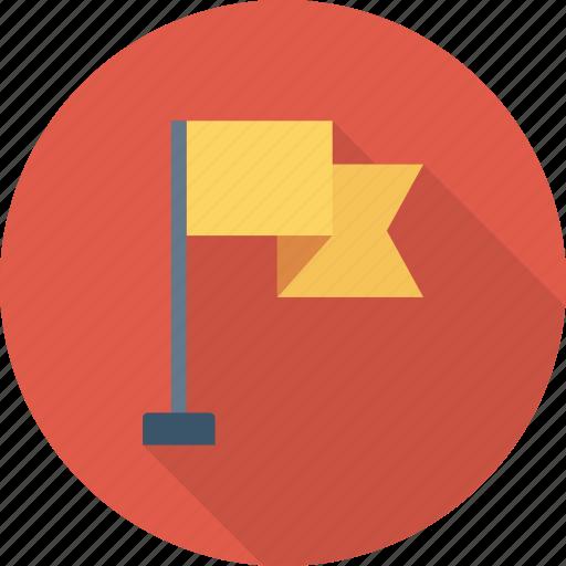 flag, mountn, success icon