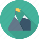 achievement, flag, mountn, success icon