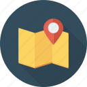 address, adress, gps, location, map, pin, street icon