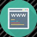 address, coding, site, tab, web, webpage, www icon