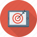 aim, bullseye, mobile, shooting, target icon