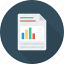 analytics, docs, documents, graph, pdf, report, statistics icon