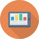 analytics, graph, infographic, mobile icon