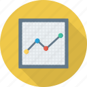 analytics, graph, presentation, trning icon