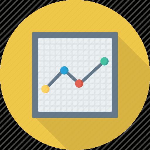 analytics, graph, presentation, trning icon