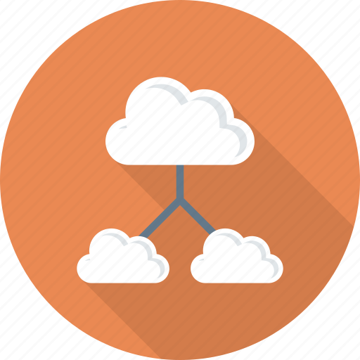 arrows, cloud, clouds, computing, data, share, storage icon