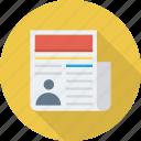 article, media, news, newspaper icon