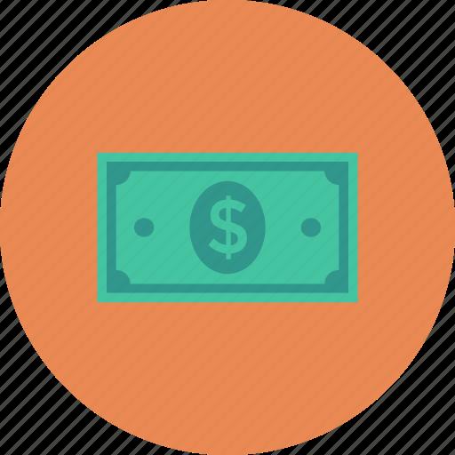dollars, finance, money icon