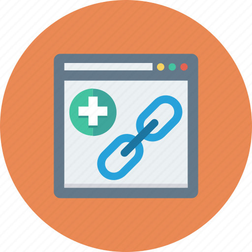 add, hyperlink, link, web icon