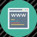 address, coding, site, tab, web, webpage, www