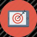 aim, bullseye, mobile, shooting, target