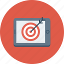 aim, bullseye, mobile, shooting, target icon