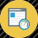 browser, speed, speedometer, web, website