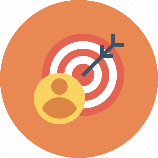business, customer, marketing, target, user icon