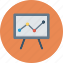 board, business, graph icon