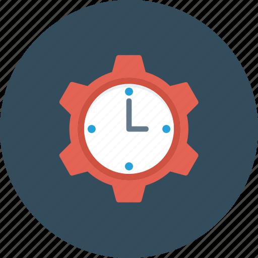 Clock, cog, management, schedule, time icon - Download on Iconfinder