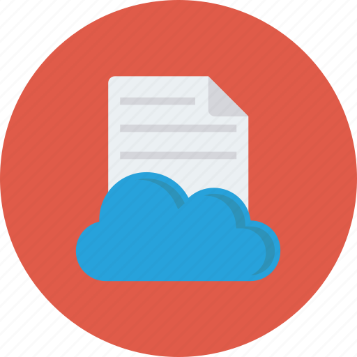 cloud, document, file icon