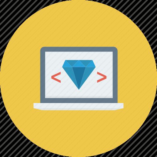 code, coding, laptop, programming, quality icon