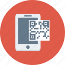 code, mobile, phone, qr, scan icon