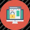 display, lock, monitor, screen, webpage, website icon