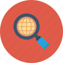 explore, global, magnifier, network, search icon