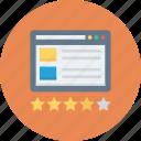 flowchart, rating, sitemap, star, web