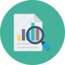 glass, magnifying, report, search, secret icon