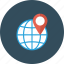 global, globe, gps, location, pin, world icon