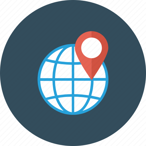 global, globe, gps, location, pin, world icon