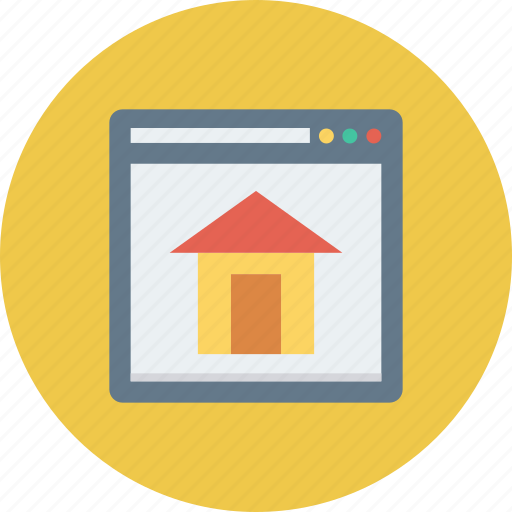 home, homepage, house, web icon