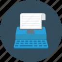 paper, writer, type, keyboard