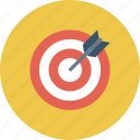 objective, precision, statement, target icon
