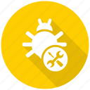 bug, fixing, seo, seo pack, seo services icon