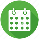 calendar, events, seo, seo pack, seo services icon