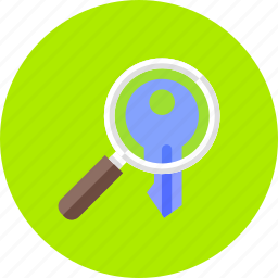 explore, find, keyword, research, search, view, zoom icon