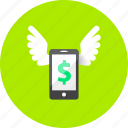 business, dollar, ecommerce, finance, marketing, mobile, money icon