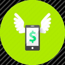 business, dollar, ecommerce, finance, marketing, mobile, money icon